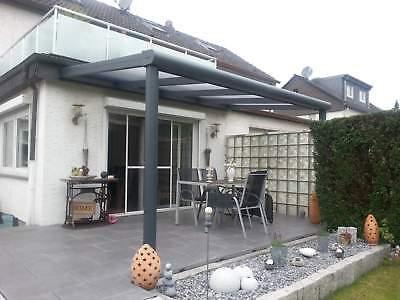 Terrassendach Alu Sonnenschutz-Stegplatten klar Terrassenüberdachung 6 m breit 3