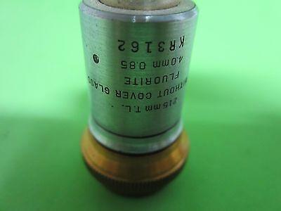 Optical Vintage Microscope Objective Bausch Lomb Fluorite Optics Bin#40-81 3