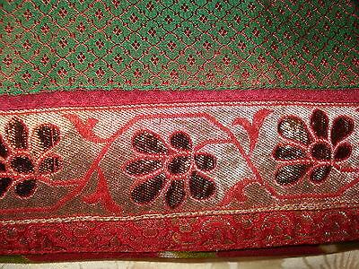 Deep Red/maroon Chiffon Indian Saree From Ahemedabad 3