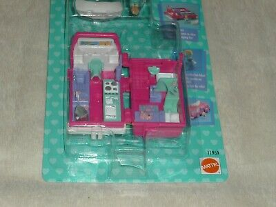Vintage 1995 Bluebird Polly Pocket Home On The Go Rv Playset New & Sealed Moc 3