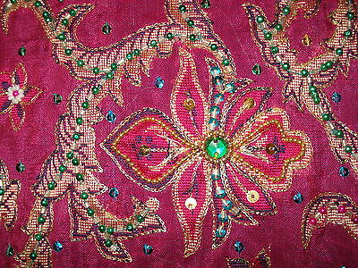 Ladies Indian Saree -Silk With Heavy Work On Pallu & Gorgeous Colour Combination 3