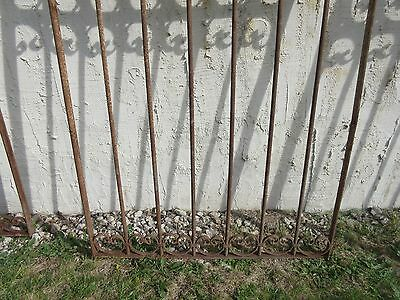 Antique Victorian Iron Gate Window Garden Fence Architectural Salvage Door #352 4