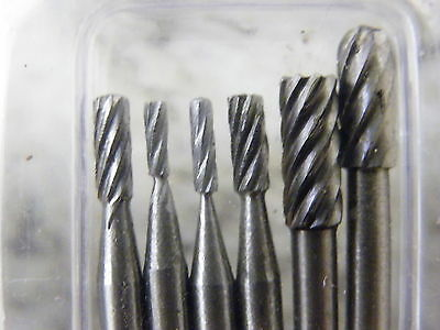 24Pc HSS Carving & Milling Burr Set Suit Dremel & Other Rotary Tools 3133  832 3