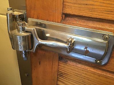 ANTIQUE 1920's DOOR HINGES & HANDLE CLOSER / LOCK 2