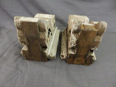 Antique Pair Corbels Wood Small Victorian Architectural Shabby Vtg Chic 517-17P 8