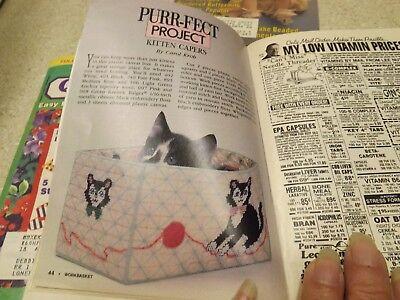 Lot Vintage Workbasket Magazine & Quilt 80s-90s  Tatting Knitting Crochet Recipe 8