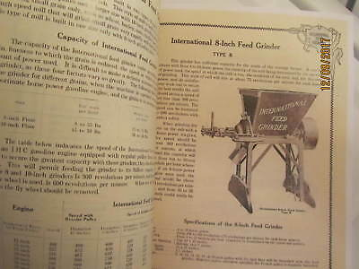 1910s International Harvester Feed Grinders Catalog Manual Gas Engine too 2