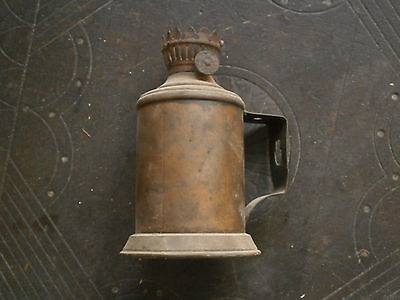 Old Rare Antique Unique French Metal Pigeon Oil Paraffin Petrol Lampe 8
