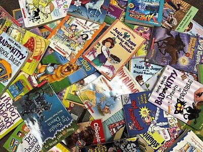 Lot of 30 RANDOM Children's Kids Chapter Books Instant Library Unsorted bundle 2