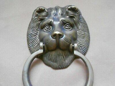 Brass Friendly Lion Door Knocker 3