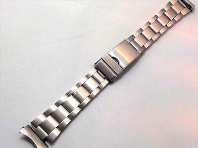 oyster satinato acciaio doppia chiusura ansa curva 20mm watch band orologi steel 3
