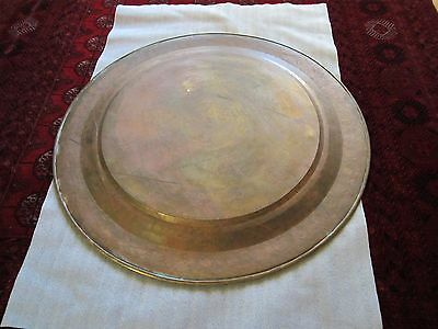 "Gorgeous Antique Persian Islamic Engraved Copper Tray 38"" / 97cm/ 14lbs 9"