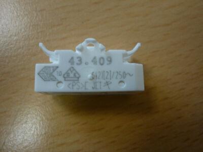 BJB Wippschalter 43.409 Schalter runde Wippe weiß Leuchteneinbau Lampen weiss
