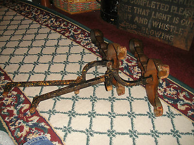 Antique Andirons-Pair-Bulbous Design-Cast Iron-Etched Footing-Fireplace Decor
