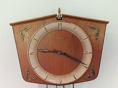 Junghans Vintage Pendulum Wall Clock With Brass Weights 4
