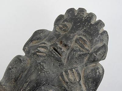 "Antique Pre-Columbian Guatemala Seated Shaman Figure ~ 3.75"" 3"