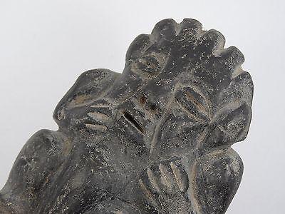 "Antique Pre-Columbian Guatemala Seated Shaman Figure ~ 3.75"" 3"