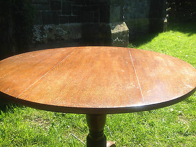 Antique GEORGIAN GEORGE III Oak Snap Tilt Top Tripod Table c1780OccasionalDining 7