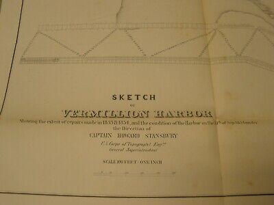 Vermillion / Vermilion Harbor 1854 Map/Sketch/Survey 2