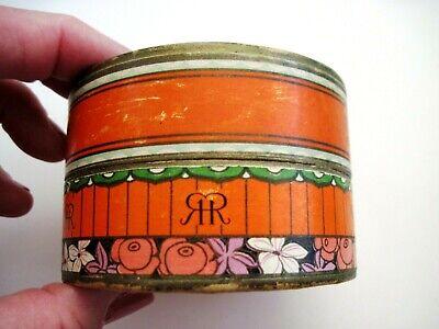 "Vintage Powder Box ""Three Flowers"" Face Powder - ""Richard Hudnut "" Art Deco  * 4"