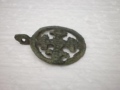 ANCIENT RARE 100% Authentic Viking Cross PENDANT Viking Kievan Rus 9 -11 AD # 3