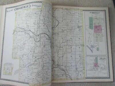 First Atlas of Franklin County Indiana 1882 handcolored maps, ports., landowners 10