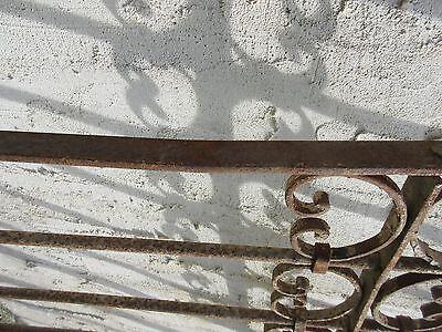 Antique Victorian Iron Gate Window Garden Fence Architectural Salvage Door #352 6