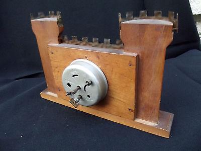 Rare BAYARD castlle wood clock; 4