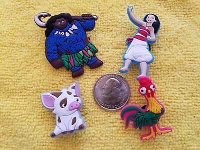 MOANA shoe charms/cake toppers!! Set of 4!! FAST USA SHIPPING!! 2
