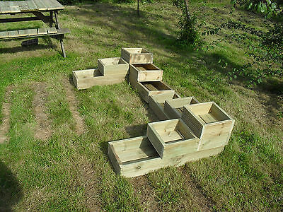 10 Of 12 3 Tier Raised Bed Garden Trough Planter Veg Flower Plant Pots In  Decking