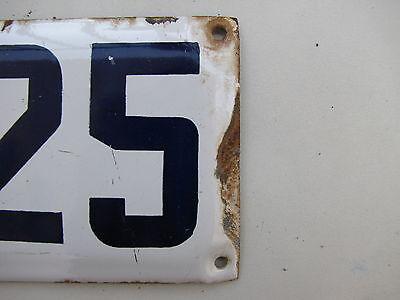 vintage ISRAELI enamel porcelain letter and number א 25 house  sign # 25 א 3