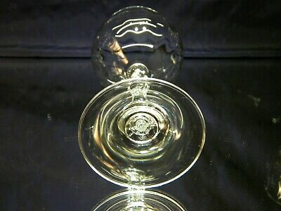 SET of 6 BEAUTIFUL Large Clear Water Wine Goblets Glasses 9