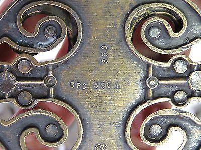 """Set of 6 Metal brass Ornate Fancy Large Vintage Dresser Pulls 3"""" x 5"""" 5"""