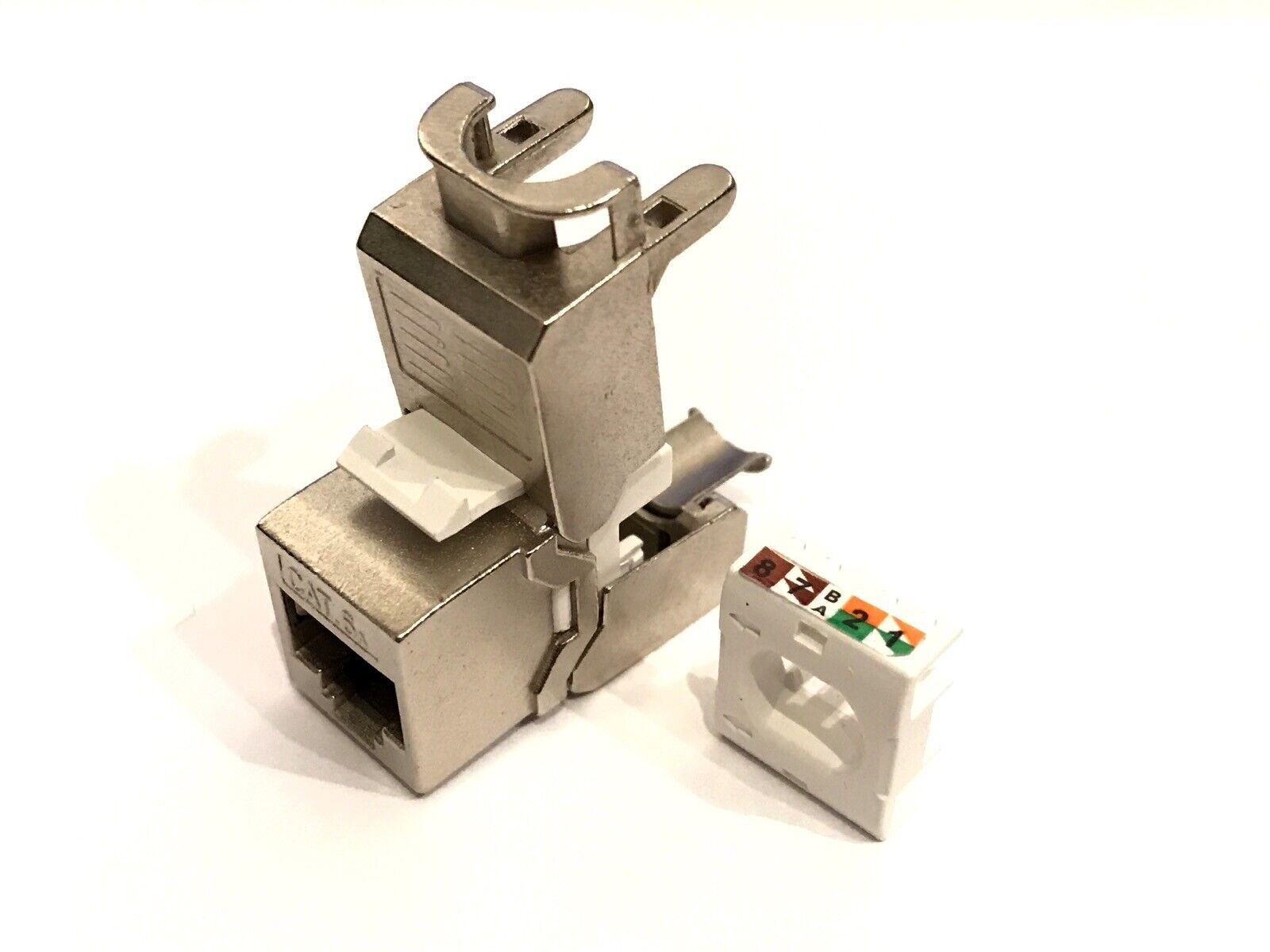 24 Stück Keystone Jack SLIM Modul geschirmt Netzwerk Buchse RJ45 Cat.6A 4