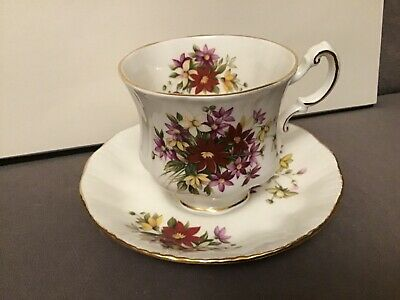 Excellent Paragon Bouquet Flower Festival Cup And Saucer 1# Quality England 4
