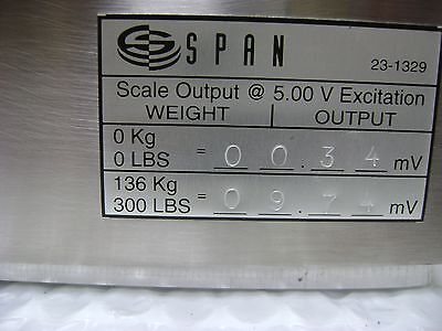 1339  Span GCS-300 Gas Cylinder Scale