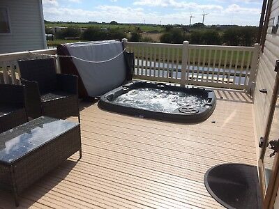 Static Caravan For Hire with private 'hot tub' at Sand Le Mere holiday village. 3