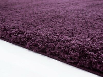 MODERN 5cm HIGH PILE PLAIN SOFT NON-SHED SHAGGY RUGS-SMALL X EXTRA LARGE THICK 2