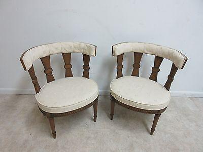 Vintage Italian Regency Fireside Side Lounge Living Room Side Chair B 12