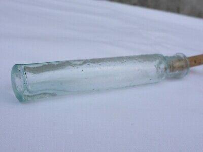 2 x alte kleine Medizin Glas Apotheke Apotheker Flasche grün lang ca. 10,0 cm 10