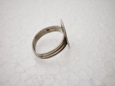 ANCIENT RARE Gorgeous Medieval Silver FINGER RING  ca 14 - 15 century AD 3