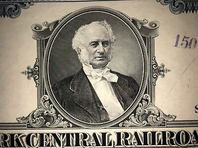 New York Central Railroad original stock certificate Vanderbilt collectible 2