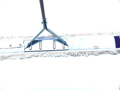 110 cm Wischmop Set Mophalter Stiel Staubmop Bodenwischer für  Sporthallen