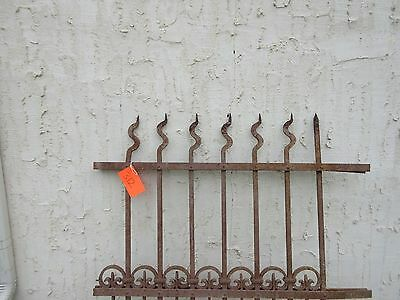 Antique Victorian Iron Gate Window Garden Fence Architectural Salvage Door #312 2