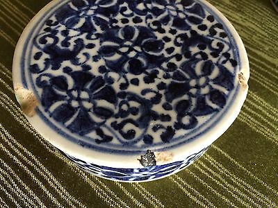 Rare Chinese Blue And White Ink Box Circa Xuande (1426-1435) Reign Ming Dynasty 7