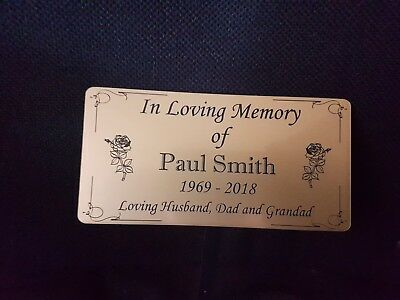 Engraved Memorial Stake Grave/Tree Marker Cremation with Personalised Plaque 4