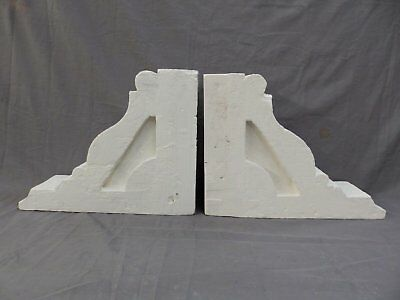 Pair Antique Wood Corbels Gingerbread Victorian Garden Shabby Vtg Chic 415-17P 3