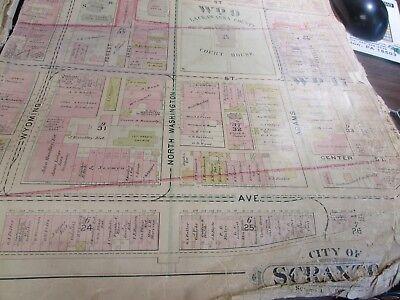City Of Scranton - 1898 Downtown Map - Ward 8,17,9 - I.c.s, Scranton H.s. (#1) 5