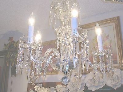 Exquisite Icicle Prism 5 Arm/Bulb Czech Bobeche Chandelier from Nashville Estate 3