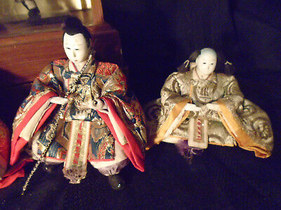 4 + 3 + 1 Antique Japanese Hina Imperial Court Empres Dolls With Gofun Faces 6